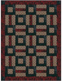 Puzzle Me This 3 yard Quilt Kit. The pattern is from my new book, Quick 'n Easy 3 Yard Quilts.
