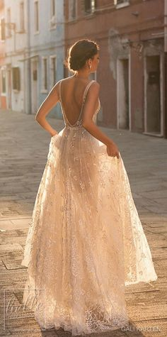 Gali Karten 2019 A line Boho Wedding Dresses Bridal Gowns Sexy Bohemia Deep V Neck Lace Appliqued Backless Tulle Floor Length with Beading - Western Wedding Dresses, Wedding Dresses 2018, Affordable Wedding Dresses, Black Wedding Dresses, Bridal Dresses, Bridesmaid Dresses, Maxi Dresses, Wedding Black, Event Dresses