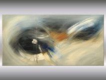 Acrylbild blau abstrakt Großformat 120 x 60 cm