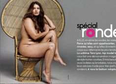 """Tara Lynn, a plus-sized model, in April 2010 issue of French Elle magazine. Issue featured 20-page celebratory photo essay of women who are """"ronde"""" (voluptuous). Photos made headlines .... May 2012"""