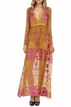 For Love & Lemons Barcelona Maxi Dress- Size 2, $45/Week