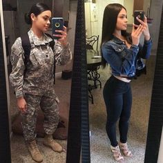 Here we share a new collection of ARMY WOMEN in and out of uniform. These are the 41 professional military women in & out of uniform looking so hot. Military Girl, Female Soldier, Army Soldier, Military Women, Girls Uniforms, Professional Women, Lady, Girl Power, Hot Girls