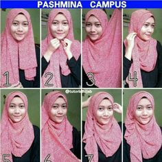 Tutorial hijab simple #fordaily Square Hijab Tutorial, Simple Hijab Tutorial, Pashmina Hijab Tutorial, Hijab Style Tutorial, Wedding Hijab Styles, Hijab Wedding Dresses, Hijab Bride, How To Wear Hijab, How To Wear Scarves