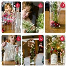 For Mike & Cindy, Tanya & Brandon, Candy & Greg Cranberry-rosemary Vinegar- great gift and, as you can see, even a child can do it!