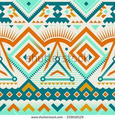 Seamless Tribal Pattern in Ethnic Style