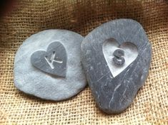 Hand carved LOVE pebble, with an initial carved out of the heart! Perfect keepsake and Valentine's gift! Valentine Day Gifts, Valentines, Godparent Gifts, Memorial Stones, Rock Crafts, Hand Designs, Love Gifts, Stone Art, Perfect Wedding