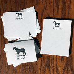 New to VeronicaFoleyDesign on Etsy: Horse Stationery Set Equestrian Stationery Gift Set Personalized Stationery Gift Set Gifts for Horse Lovers Arabian Jumper Dressage (49.00 USD)