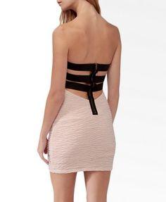 2ea5f3a627 Mini Caged Back Tube Dress