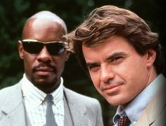 Hawk (Avery Brooks)  Spenser (Robert Urich)  Spenser: For Hire was a 60 minute crime drama series on ABC about a private investigator who solves a murder each week.