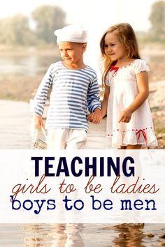 Teaching girls to be ladies and boys to be gentlemen