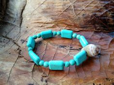 Cone Shell Beach Bracelet on Etsy, $10.00