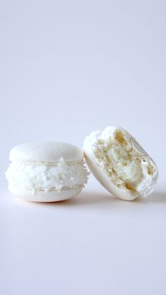 White coconut macarons with a surprise coconut center will be all you'll want for Christmas.
