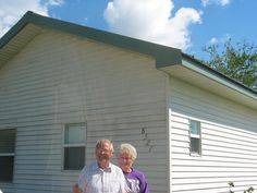 Customers with their Kodiak Steel Home that survived Katrina. #storms @Kodiakhomes