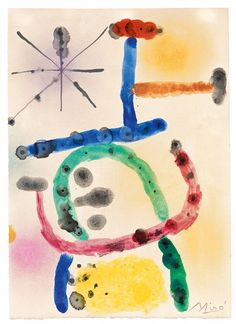 Joan Miró, Sans titre, 1956, Auction 1051 Modern Art, Lot 237