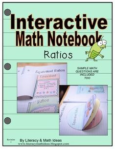 This interactive notebook is a fun and visual way for students to learn about ratios.  It covers:--Writing Ratios--Equivalent Ratios--RatesWord Problems and sample math problems are also included.A visual answer key is included in the document.