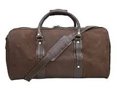 Lovely brown distressed leather holdall - Duffel style Brown vegetable tanned leather trim and strap Internal Zipped pocket and pouch pockets