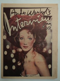 Warhol/Interview cover in Barry Lyndon hair+make-up