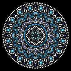Mandala vector art, Australian dot painting white and blue design, Aboriginal folk art bohemian style. Mandalas doted background inspired by traditional art from Australia, boho decoration Aboriginal Dot Painting, Dot Art Painting, Mandala Painting, Painting Patterns, Stone Painting, Mandala Draw, Mandala Canvas, Mandalas Drawing, Mandala Rocks