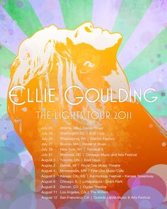 Ellie Goulding Summer Tour Poster by Marq Romero, via Behance.
