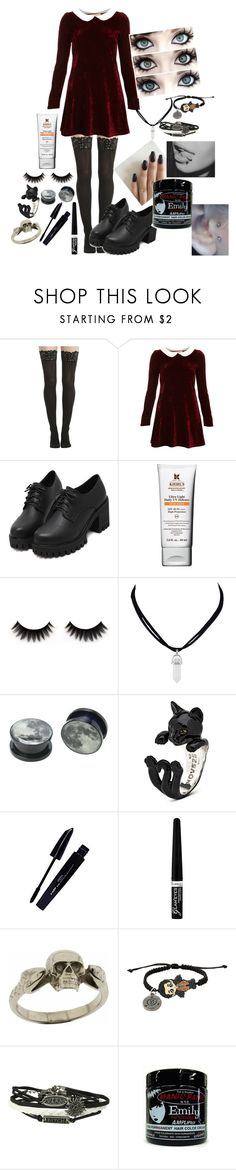 """"""":3"""" by hold-on-til-may ❤ liked on Polyvore featuring Hot Topic, Oh My Love, Kiehl's, L'Oréal Paris, Rimmel and Metal Couture"""