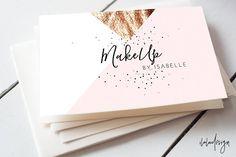 Geometric MakeUp Business Card by iloladesign on @creativemarket