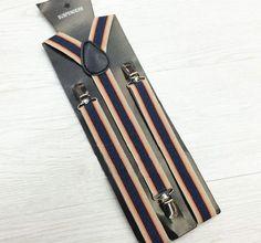 Pop Mens Suspenders Vintage Lattice Belt 6 Clips Firm Metal Clamp Trouser Braces