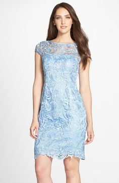 Adrianna+Papell+Lace+Sheath+Dress+(Regular+&+Petite)+available+at+#Nordstrom