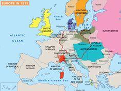 Europe in 1815 Congress of Viena