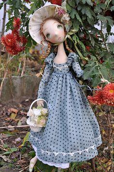 Лиза - морская волна,подарок на день рождения,барышня,авторская кукла