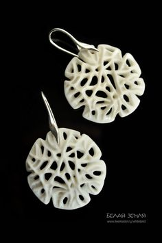 Porcelain earrings – shop online on Livemaster with shipping