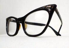e6528968a80c Vintage Black STudded Cat Eye Eyeglass Frames, Titmus USA, Prescription Eye  Glasses or Sunglasses