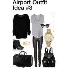 """""""Airport Outfit Idea #3"""" by nozomy on Polyvore"""