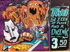 Chalk Ink Markers  Two Slices and a Drink Pizza Deal