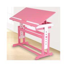 Lasten työpöytä 5, vaaleanpunainen, 99,95 €. Värikäs ja tukeva työpöytä soveltuu esim. kirjoittamiseen, piirtämiseen ja mihin vain työskentelyyn. Työpöydän kallistus mahdollisuus takaa ergonomisen työasennon. Työpöydän korkeutta pystyy säätämään kätevästi työtason ollessa korkeudella: 62-88cm. Ilmainen kotiinkuljetus! #lastentyöpöytä #työpöytä