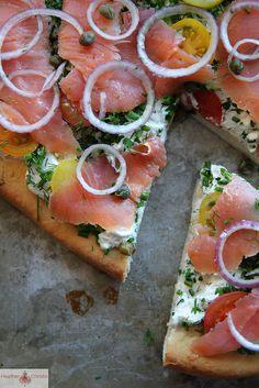 Bagel n' Lox Pizza by Heather Christo, via www.heatherchristo.com