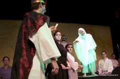 The ghost of Banquo torments Macbeth at his banquet. -- KWLT's 2013 production of Macbeth, directed by Jonathan C. Dietrich