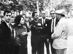 Mario Vargas Llosa, su esposa Patricia, Carlos Fuentes,Juan Carlos Onetti, Emir Rodriguez Monegal y Pablo Neruda, 1966.
