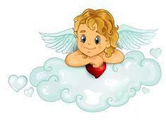 "Photo from album ""Ангелочки"" on Yandex. Unicornios Wallpaper, Angel Wallpaper, Valentine Cupid, Valentines, Frozen Paper Dolls, Cute Owl Cartoon, Engel Tattoo, Diy And Crafts, Crafts For Kids"