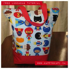 Insulated lunch tote tutorial w/ link to purchase all materials in a kit!