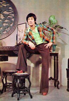 Bruce Lee in bell bottoms.. .