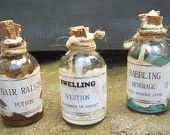 WITCH WIZARD POTION Bottles Halloween Decoration Magic Spell