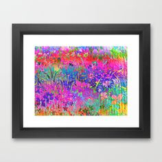 Bright Flower Garden Framed Art Print by Judy Palkimas - $35.00
