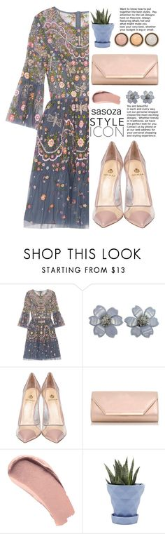 """Floral by Sasoza"" by sasooza on Polyvore featuring Needle & Thread, Van Cleef & Arpels, Semilla, Dorothy Perkins, Burberry, Chive and By Terry"