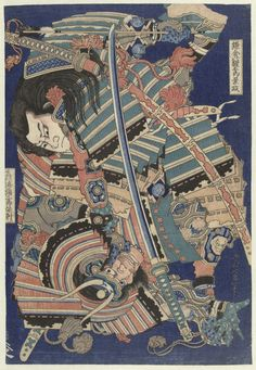 Fighting heroes by Hokusai