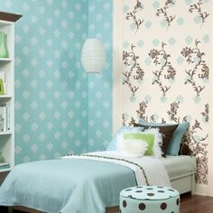Wallpaper as an accent wall has always been a bright idea with me.