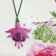 Küpe çiçeği kolye #necklase #fuchsia #elyapımı #handmade #miyuki #design #jewelry #accessories #style #stylish #mode #beauty #bohemian…