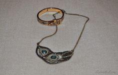 Statement necklace & bangle by Anood Lari