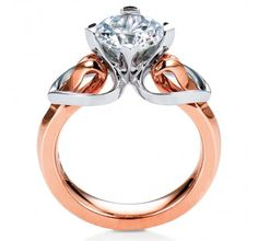 Two Tone Gold Eriskay #MaeVona Engagement Ring perfect for the #contemporary bride #whatsyourbridalstyle