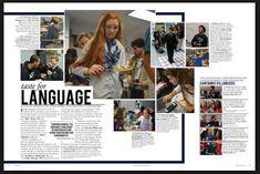 spirit week yearbook page Yearbook Mods, Yearbook Staff, Yearbook Pages, Yearbook Spreads, Yearbook Covers, High School Yearbook, Yearbook Theme, Graphic Design Brochure, Corporate Brochure Design