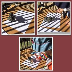 Using the sun and shadows to trace and explore shapes